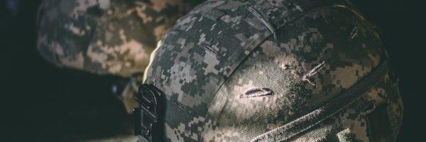 army helmets